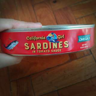 CALIFORNIA GIRL Sardines in Tomato Sauce (from US) 15. oz (425 g)
