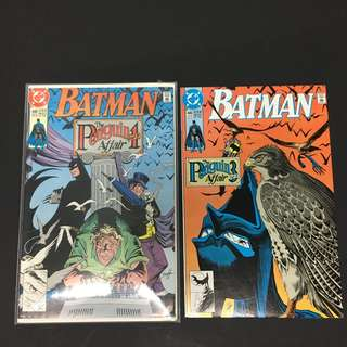 Batman 448 & 449 DC Comics Book Justice League Movie Penguin