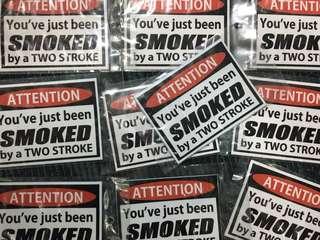 Smoke by 2 stroke sticker
