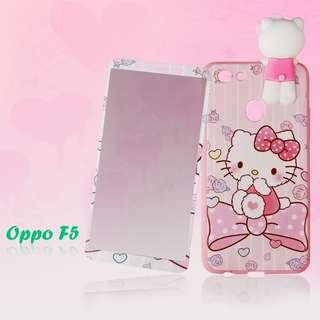 New hello kityy manjat plus temperrd glass for oppo f5