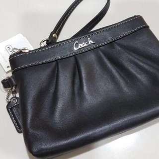 Coach leather wristlet ( brand new ) -marked down to final lowest price for clearance