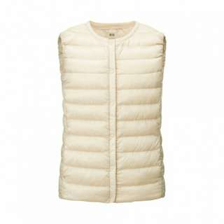 Uniqlo Women Ultra Light Down Compact Vest (Off White)