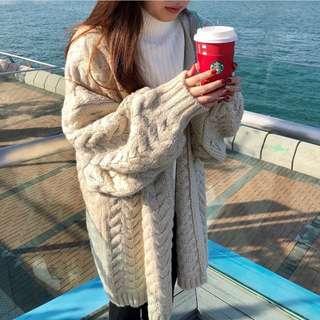 麻花冷外套