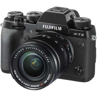 Brand New Fujifilm X-T2 Body with 18-55mm F2.8-4 Kit Lens