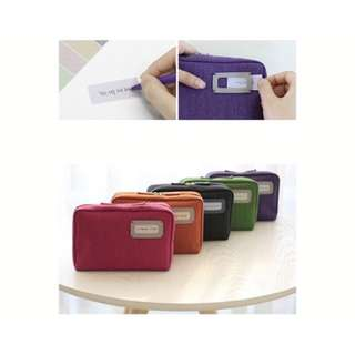 Portable Bank Book Cosmetic Pouch Multi-Pouch
