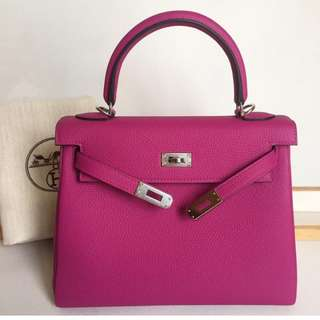 Authentic Hermes Kelly 25 Rose Poupre