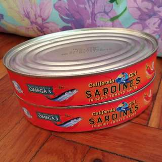CALIFORNIA GIRL Sardines in Spicy Tomato Sauce (from US) 15 oz (425 g)