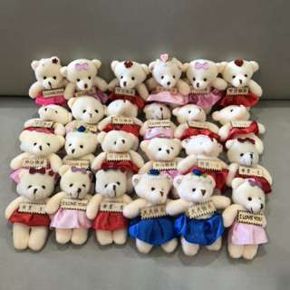 Brand new cutie little bears with personalised message on tag. suitable as decoration piece for gifts box 🎁 selling 1 for $4, 3 for $10