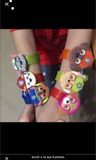 Instock Hot selling paw patrol handwrist w light brand new 6 design Available !! While stock last!! No more restock .. pm me For Bulk Purchase