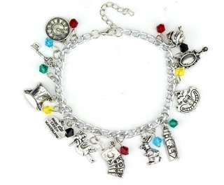 Alice In The Wonderland Charms Bracelet