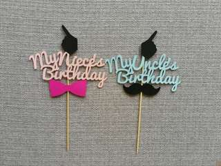 Customized Same Day Birthdays Toppers