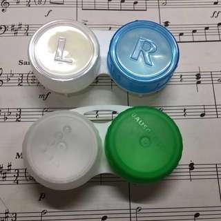 2個全新隱形眼鏡盒 contact lens case