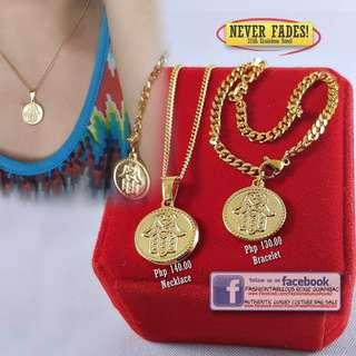 Lucky HAMSA HAND Necklace & Bracelet - No Fading!