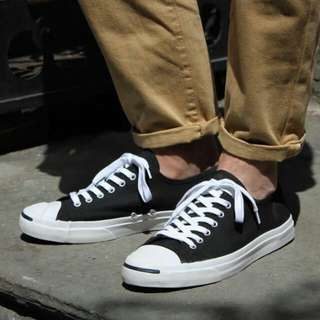 Converse Jack Purcell Canvas Low Black White