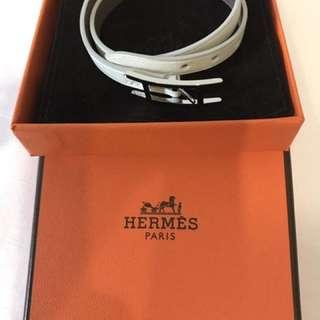 Hermes Behapi White double tour bracelet brand new