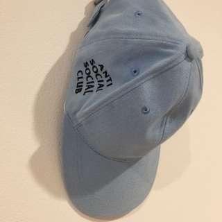 Blue baseball cap/ topi