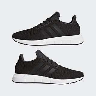 Adidas Swift Run Shoes in Black UK 6