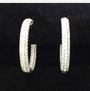 Loop Pave Diamond Earrings