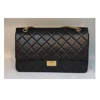 Authentic Chanel Reissue 227 Black Ghw