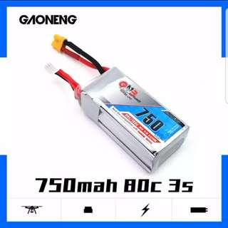 GNB 750mah 3S 11.1v 80C lipo