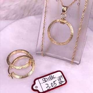 Saudi Gold Set 18k