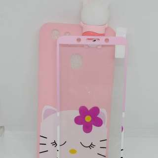 Cute manjat plus tempered glass for oppo f1s