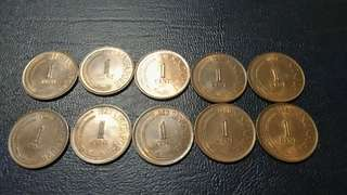 1 cent singapore (10pcs)