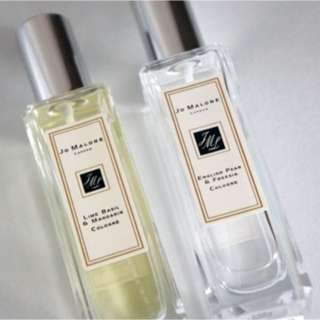 Jo Malone 9ml travel sized perfume (lime and basil)