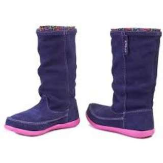 Crocs Womens Adela Suede W Boots Black Available in Sizes W4, W5,  100% Genuine
