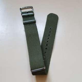 軍綠色Nato錶帶