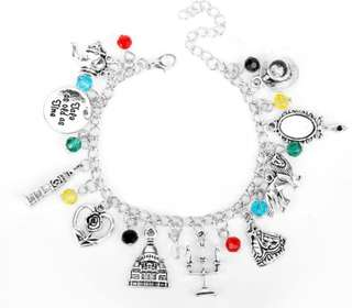 Beauty And The Beast Charms Bracelet
