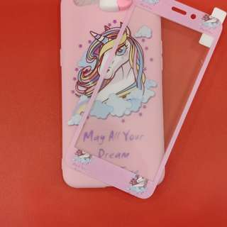 New little pony manjat plus tempred glass for oppo f1s