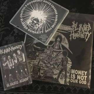 BLINDED HUMANITY • 7inch Split with HELLEXIST • + CDR & CASSETTE