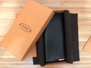 TOD'S Vertical Wallet in Leather (Black) (Brand new)