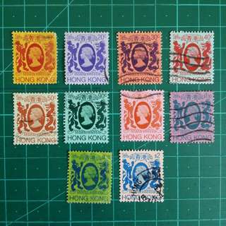 [均一價$10]1982-87 伊莉莎白二世第四組通用舊票10枚