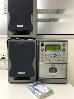 Philips Cassette and CD player