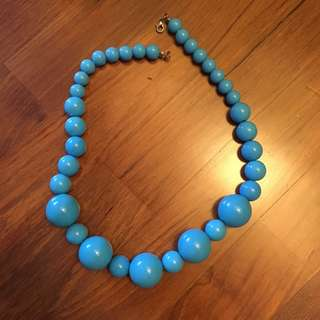 Turquoise blue beads necklace