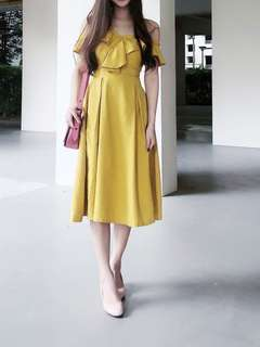 TEM yellow dress