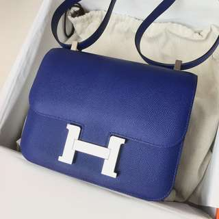 Authentic Hermes Constance 24 Blue Electric