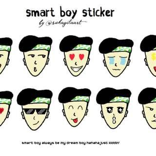 Smart boy stickers