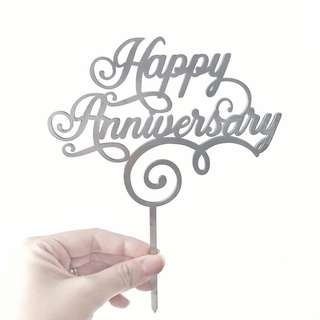 READY STOCK Acrylic Cake Topper for Birthday/Anniversary/Baby Shower/Bridal Shower