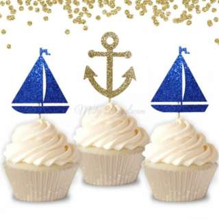 Nautical Theme Cupcake Toppers 6pcs/pack