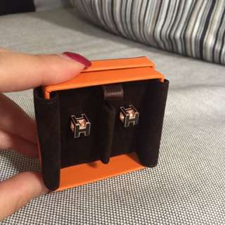 Hermes Cube H earrings
