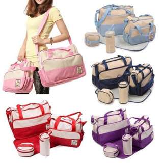5 in 1 Multifunction Baby Diaper Changing Mommy Bag