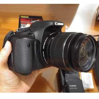 Camera DSLR Canon EOS 600D FULL Set MULUS LENGKAP Lensa + Body + Tas #MakinUntung