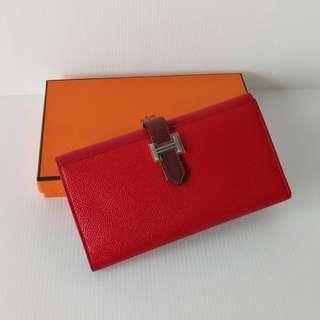 Authentic Hermes Bearn Wallet