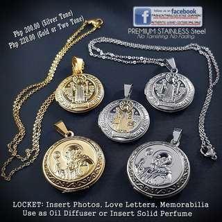ST BENEDICT Locket Necklace - NON TARNISH!