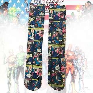 MARVEL 🥊 DC 漫威 superhero superman 超人 漫畫 長筒襪