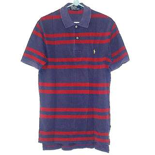 Polo shirt (navy with red strip)