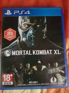MORTAL KOMBAT XL for PS4 (9/10 Condition)